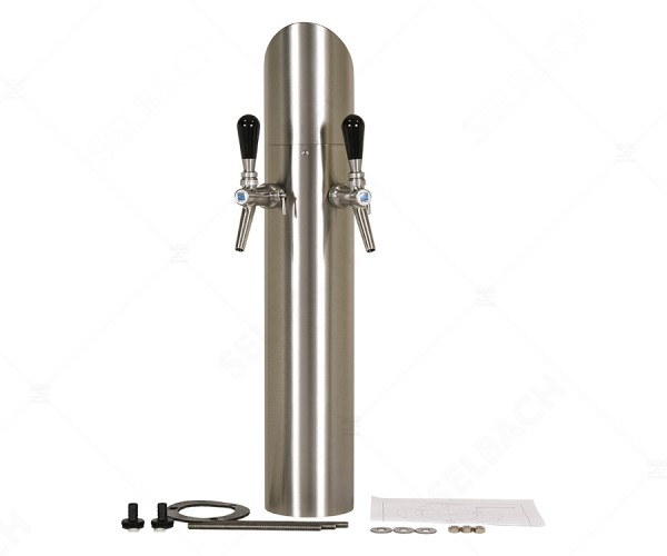 Edelstahl-Zapfsäule für Tafelwasseranlagen